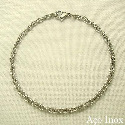 pulseira em aço inox 316l - 20 cm