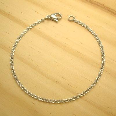 pulseira em aço inox 316L - fecho lagosta - tamanho 20 cm