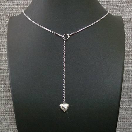 colar gravatinha aço inox antialérgico - pingente duplo coração
